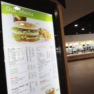 McDonald's London Olympics Menu