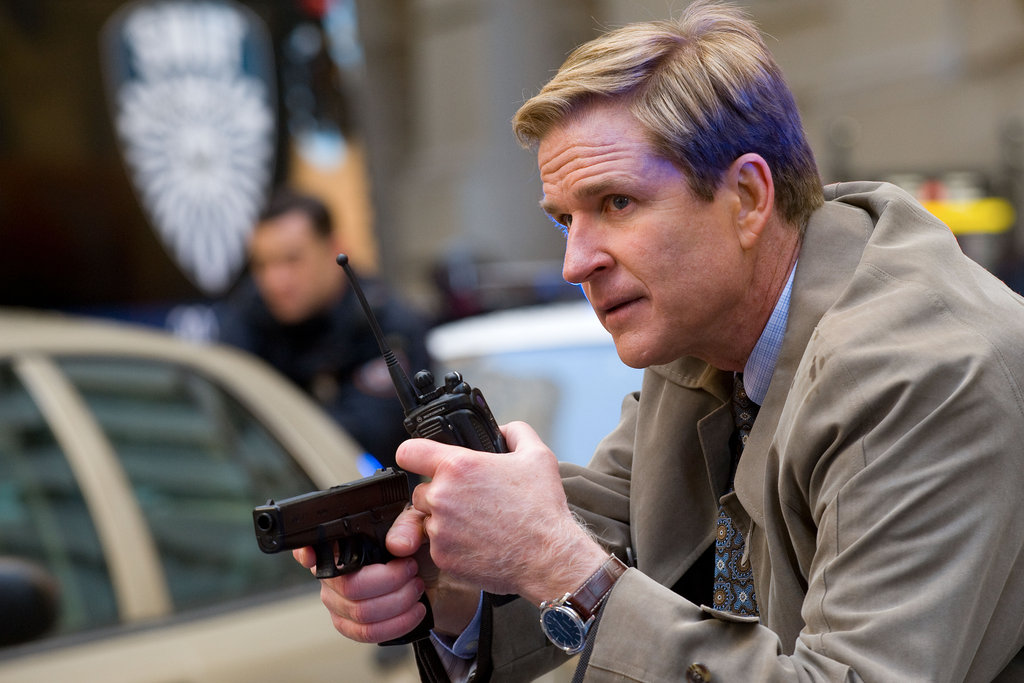 Matthew Modine in The Dark Knight Rises.  Photo courtesy of Warner Bros.
