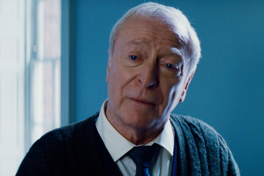 Michael Caine in The Dark Knight Rises.  Photo courtesy of Warner Bros.