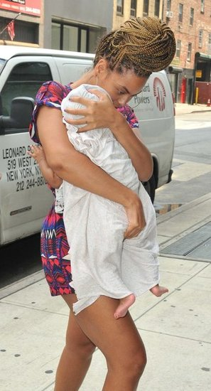 Beyoncé carried Blue in NYC.