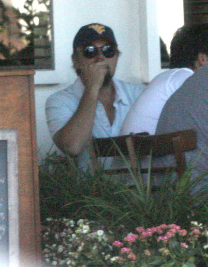 Leonardo DiCaprio at lunch.