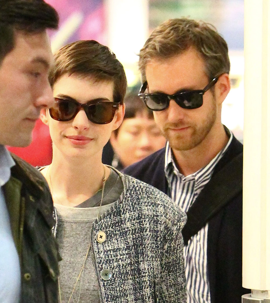 Anne Hathaway and Adam Shulman were in London for the Dark Knight Rises UK premiere.
