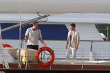 Justin Timberlake and Ben Affleck got to work on a boat.