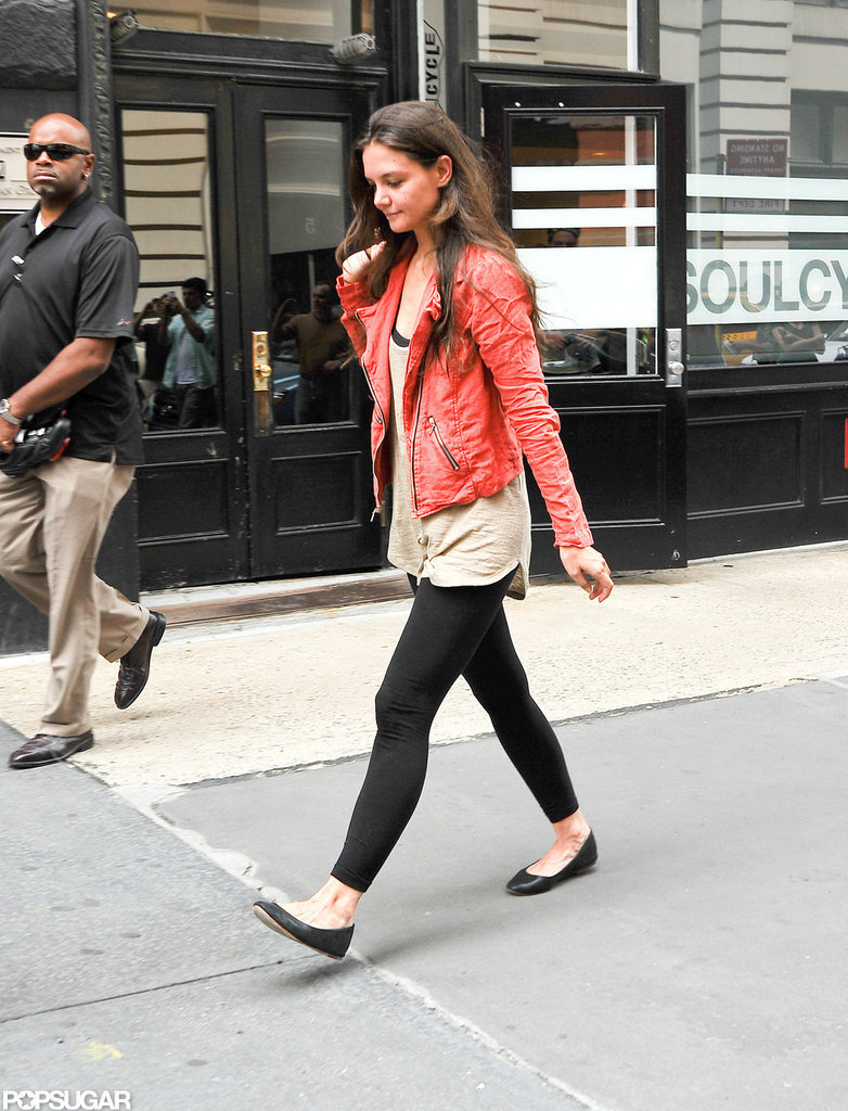 Katie Holmes Hits SoulCycle During Her Solo Afternoon
