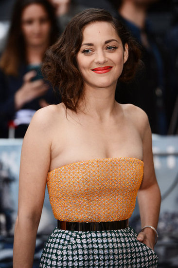 Marion Cotillard arrived at the Dark Knight Rises UK premiere in London.