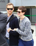 Anne Hathaway Hits London With Adam Ahead of the Dark Knight's Debut