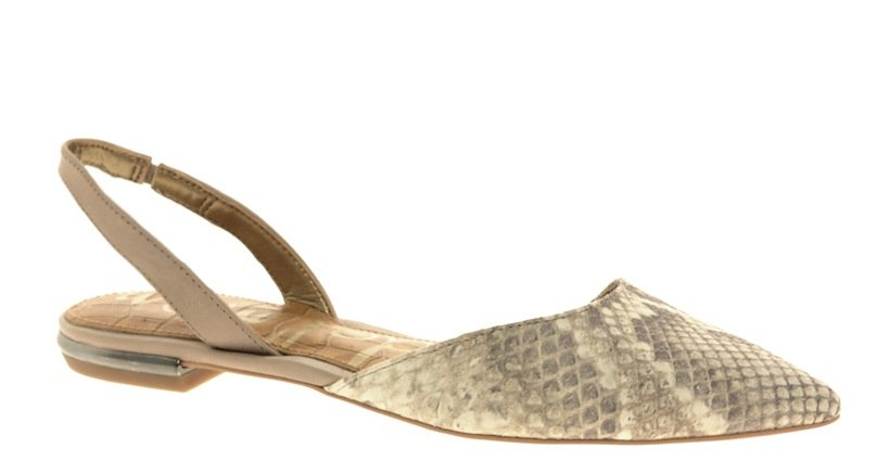 We couldn't resist this chic, yet totally exotic, pair of slingbacks — they're sure to impress against a fitted pencil skirt silhouette. Sam Edelman Harper Pointed Snake Print Flat Slingbacks ($208)