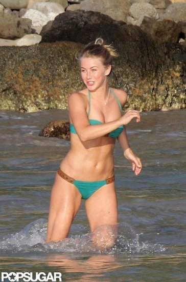 Julianne Hough wore a two-piece during a January 2012 vacation in St. Barts.