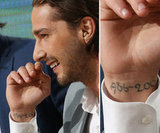 "Shia LaBeouf has dates scribed on the inside of his right wrist that say: ""1986-2004."" In an interview Shia talked about the dates and referred to the timespan as a reference to his ""childhood."""