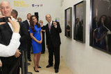 Catherine, Duchess of Cambridge, was shown around by Director of the National Portrait Gallery Sandy Nairne.