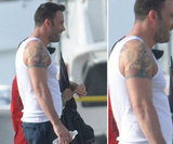 Ben Affleck has a tree and band of roses tattooed around his right bicep.