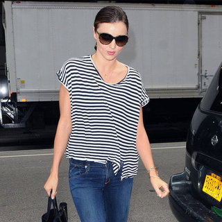 Miranda Kerr Wears Stripes in NYC Pictures