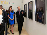 Kate Middleton viewed Road to 2012: Aiming High at the National Portrait Gallery.