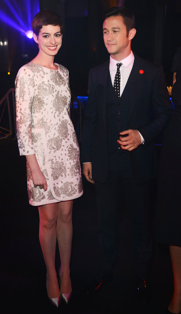 Anne Hathaway, in J. Mendel, and Joseph Gordon-Levitt hung out.