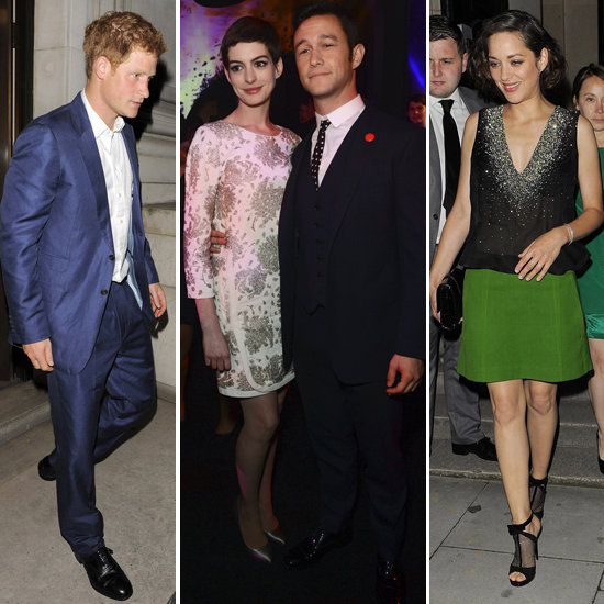 Prince Harry Brings a Blonde to Party With Dark Knight's Anne, Joseph, and Marion