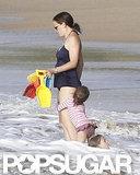 Jennifer Garner wore a swimsuit in Puerto Rico.