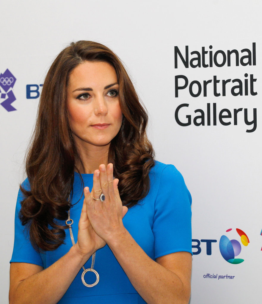 Kate Middleton clapped at an art exhibit.