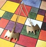 Bat Signal Earrings
