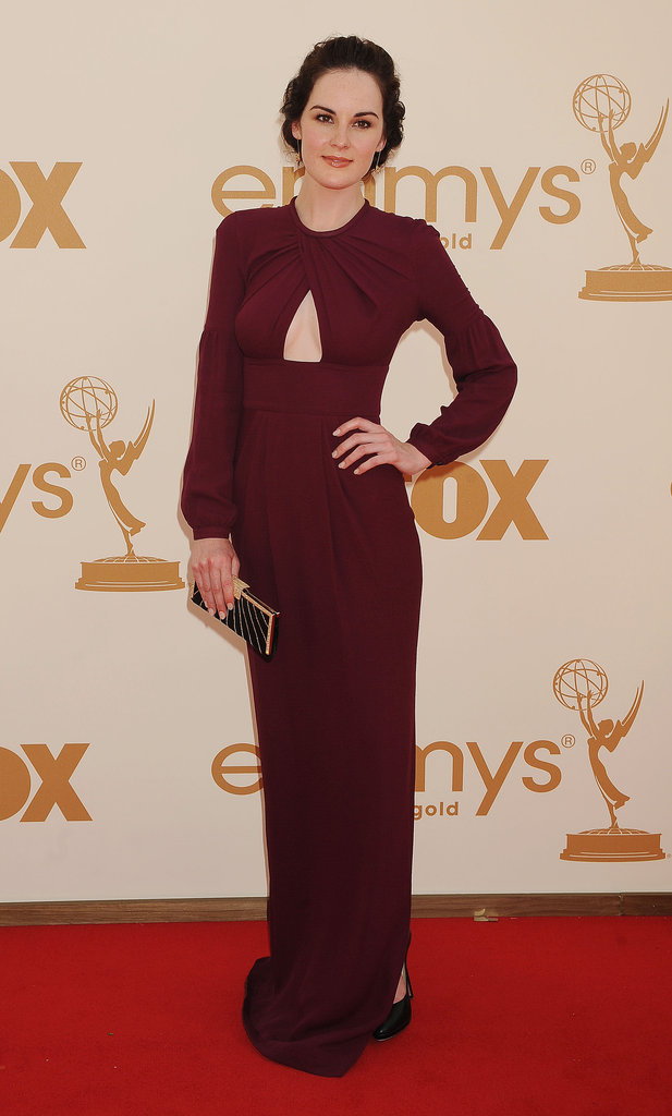 She stunned at the 2011 Emmy Awards in a merlot-hued keyhole-cutout gown.