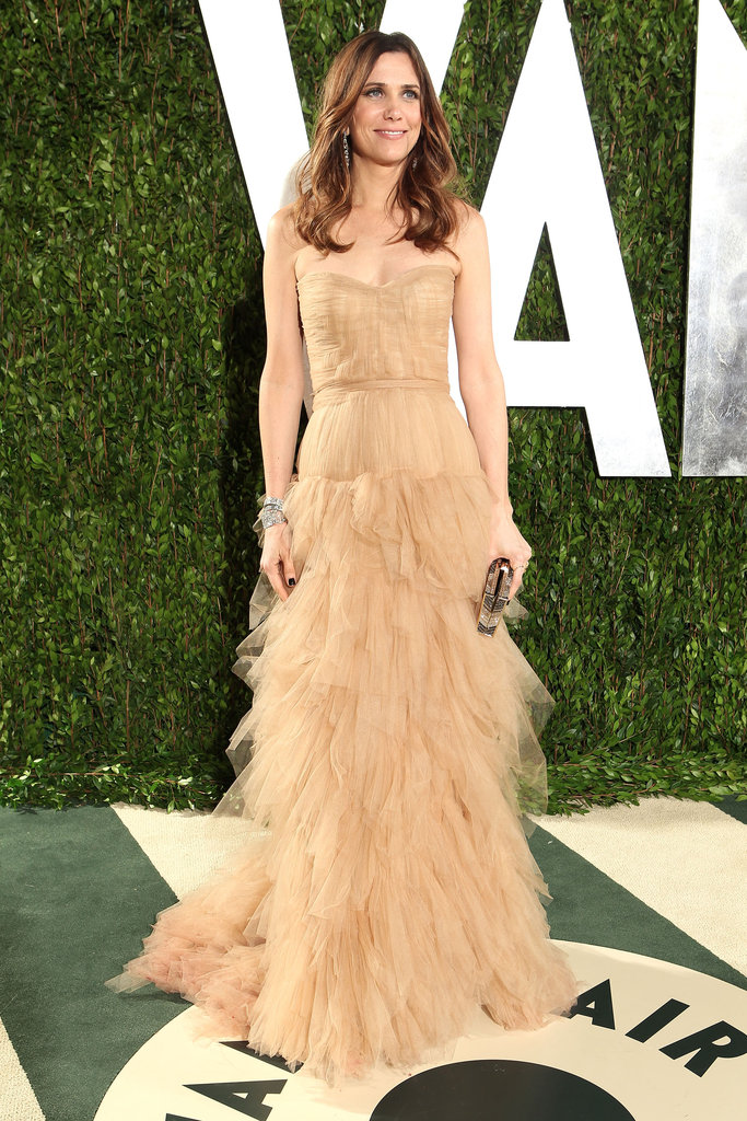 Kristen chose a frothy nude-colored J.Mendel gown for the 2012 Oscars.