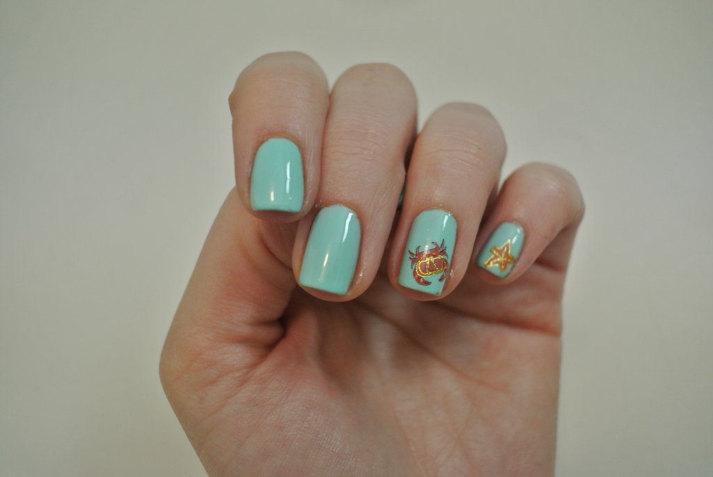 DIY Under The Sea Themed Nail Art Using Water Decals | POPSUGAR Beauty