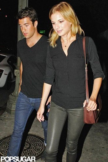 Emily VanCamp and Josh Bowman were spotted leaving the LA club Playhouse.
