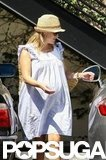 Reese Witherspoon covered up in a hat.