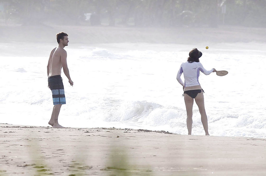 Justin Timberlake and Jessica Biel played a game in Puerto Rico.