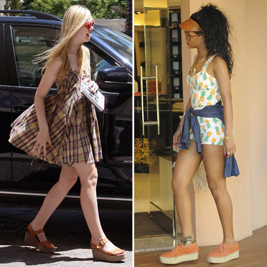 Looking for some easy and awesome Summer footwear? These celebs have the right idea with their flatforms.