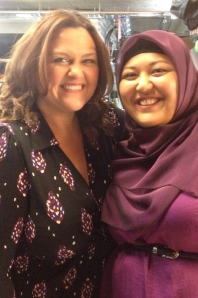 Chrissie Swan was excited to meet MasterChef 2012 contestant Amina Elshafei. Source: Twitter user chrissieswan