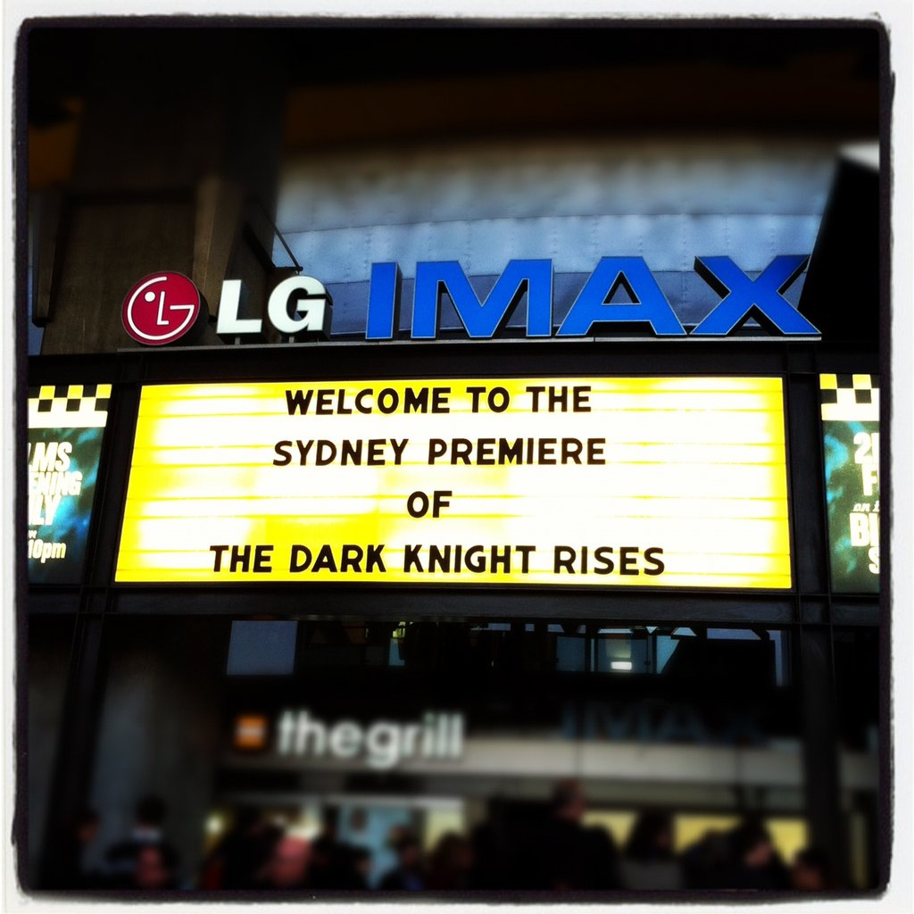 PopSugar ed Jess was first in line for the debut of The Dark Knight Rises in Sydney.