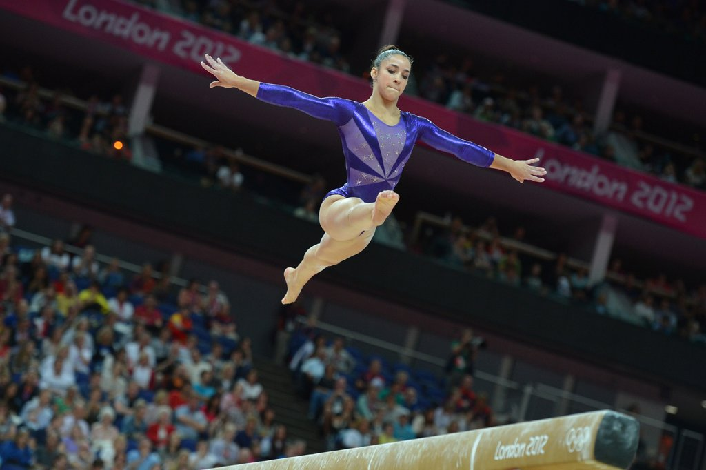 Aly Raisman Leaps on the Beam
