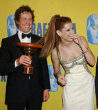 Hugh Grant and Sandra Bullock were full of laughs during LA's 12th Annual BAFTA/LA Britannia Awards in November 2003.