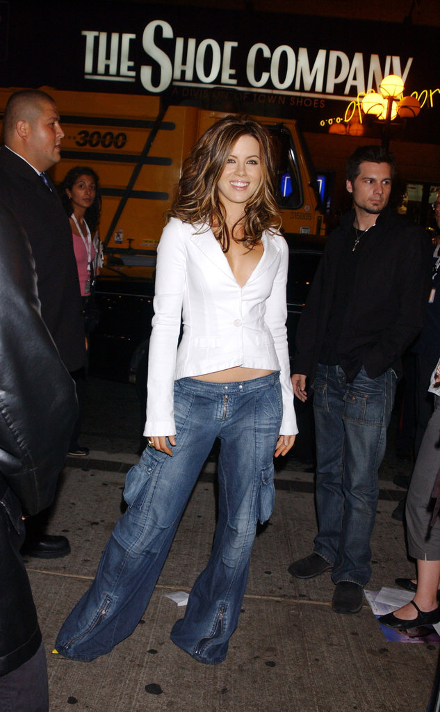 Kate Beckinsale wore a blazer at the Toronto Film Festival in 2003.