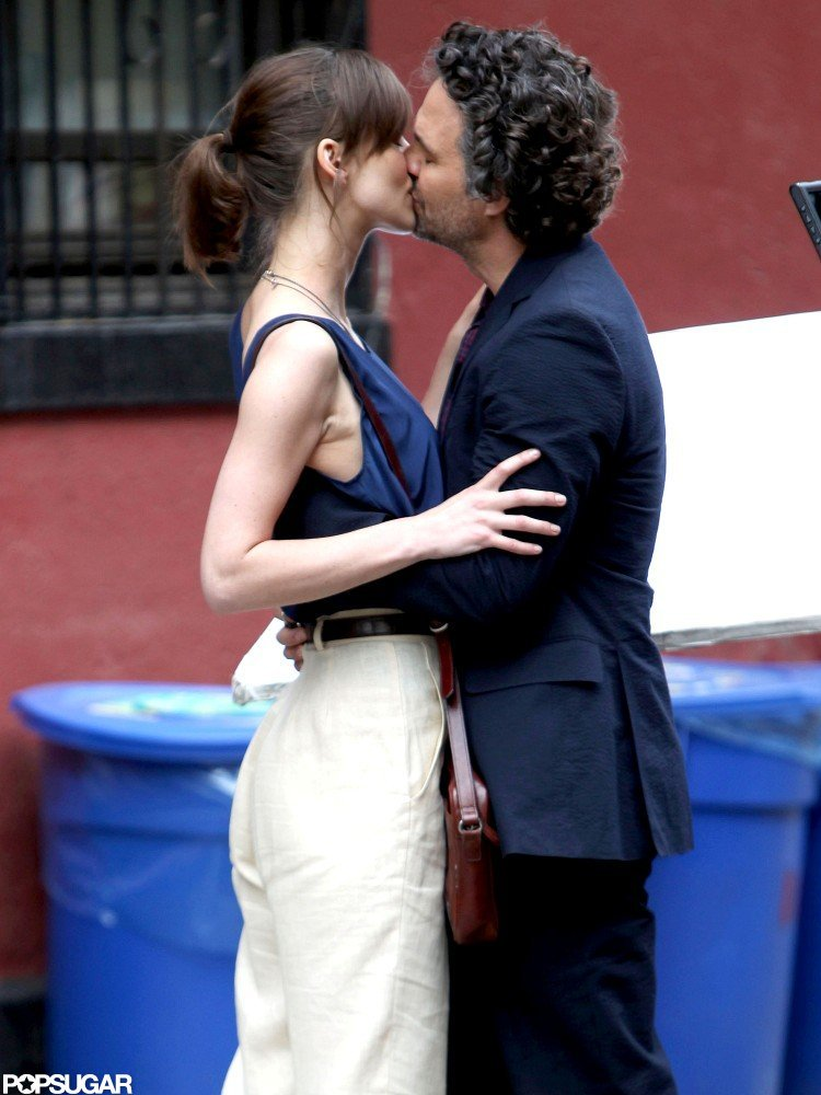 Keira Knightley and Mark Ruffalo locked lips while filming.