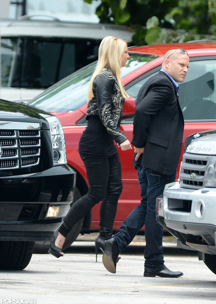 """""""Feisty"""" Britney Spears Heats Up Miami With Jason and The X Factor"""