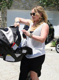 Hilary Duff and Luca went to a birthday party in LA.