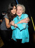 Sandra Bullock and Betty White met up backstage at the August 2010 Teen Choice Awards in LA and shared a sweet hug.