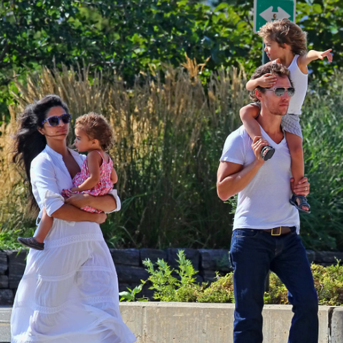 Matthew McConaughey With Pregnant Camila, Levi, and Vida