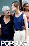 Keira Knightley put her arm around her mom, Sharman Macdonald.