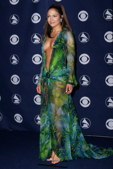 J Lo left little to the imagination in a low-cut dress at the 2000 Grammy Awards in LA.