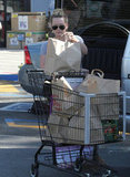 Hilary Duff got groceries in LA.