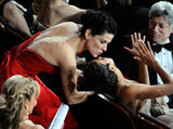 Halle Berry got a kiss from her during the February 2011 Oscars.