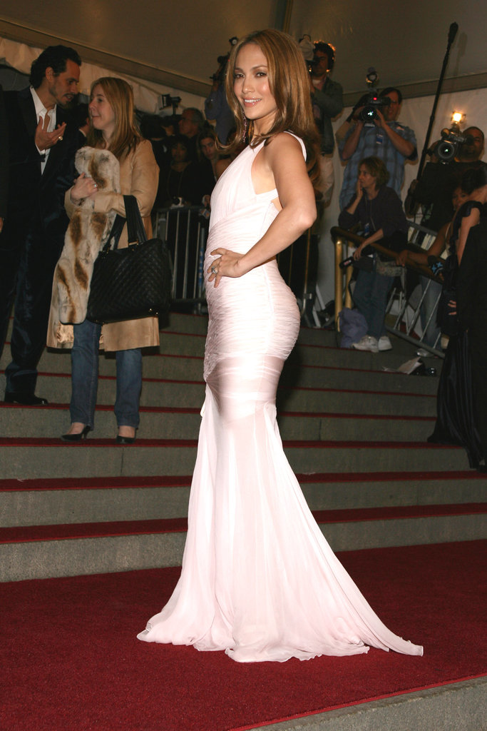 Jennifer Lopez went with a fitted white gown for the 2006 Met Gala in NYC.