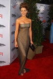 In June 2004, Kate Beckinsale wore a strapless gown to the AFI Lifetime Achievement Awards in LA.