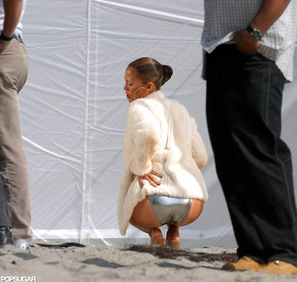 J Lo got sexy for the cameras in Malibu in October 2002.