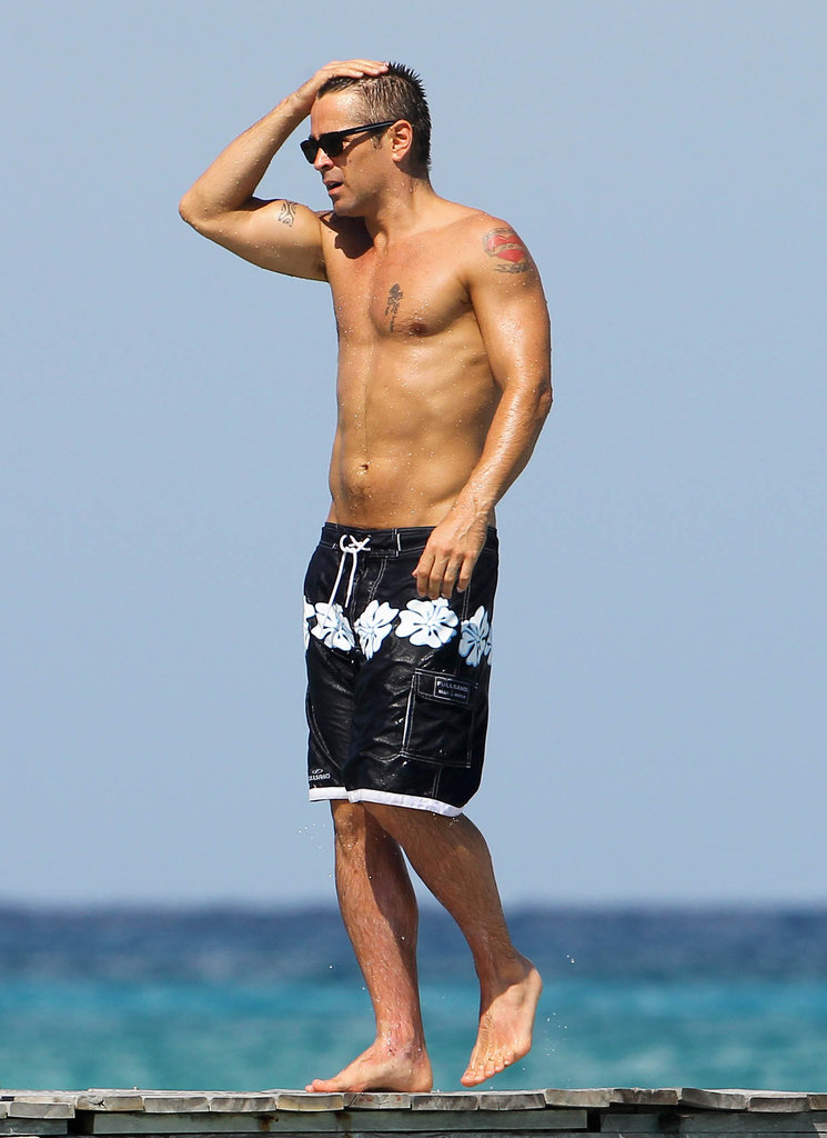 Colin Farrell shirtless in Mexico.