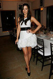 Kate Beckinsale showed off her legs in a short dress at a dinner in NYC in November 2011.