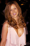 Kate Beckinsale wore a deep V-neck top in February 2004 to the Vanity Fair Oscar party.