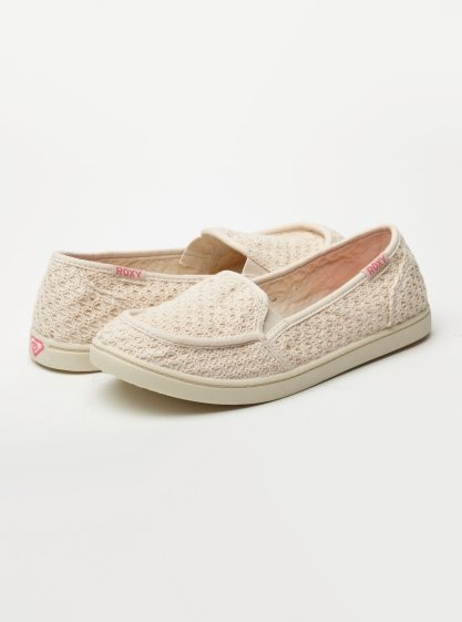 This crochet pair would work well for a beach day, thanks to the solid sole and cool, neutral hue. Roxy Lido Shoes ($39)